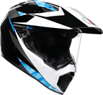 AGV AX9 NORTH Dual Sport Helmet (Black/White/Cyan)