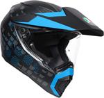 AGV AX9 ANTARTICA Dual Sport Helmet (Matte Black/Cyan)
