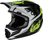Z1R Youth RISE ASCEND Off-Road Helmet (Black/Hi-Viz Yellow/White)
