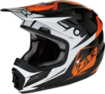 Z1R Youth RISE ASCEND Off-Road Helmet (Black/Orange/White)