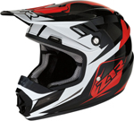 Z1R Youth RISE ASCEND Off-Road Helmet (Black/Red/White)