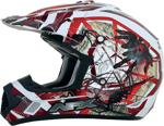 AFX FX17Y TRAP Kids Motocross/Offroad/ATV Helmet (Red Web)