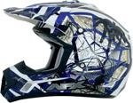 AFX FX17Y TRAP Kids Motocross/Offroad/ATV Helmet (Blue Web)