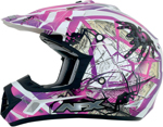AFX FX17Y TRAP Kids Motocross/Offroad/ATV Helmet (Fuchsia Web)