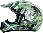 AFX FX17Y TRAP Kids Motocross/Offroad/ATV Helmet (Green Web)