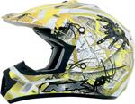 AFX FX17Y TRAP Kids Motocross/Offroad/ATV Helmet (Yellow Web)