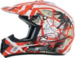 AFX FX17Y TRAP Kids Motocross/Offroad/ATV Helmet (Orange Web)