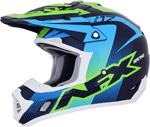 AFX FX17Y HOLESHOT Kids Offroad/ATV Motorcycle Helmet (Navy/Green/Blue)