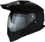 Z1R RANGE Cold-Weather Snow Dual-Sport Adventure Helmet (Flat Black)