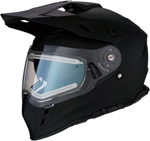 Z1R RANGE Cold-Weather Snow Dual-Sport Helmet w/ Electric Shield (Flat Black)