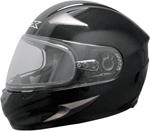AFX FX90S Full-Face Snow/Motorcycle Helmet w/ Dual Pane Shield (Gloss Black)