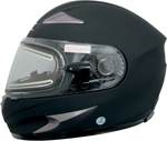 AFX FX90SE Full-Face Snow/Motorcycle Helmet w/ Electric Shield (Flat Black)