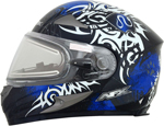 AFX FX90SE Full-Face Snow/Motorcycle Helmet w/ Electric Shield (DANGER Blue)