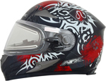 AFX FX90SE Full-Face Snow/Motorcycle Helmet w/ Electric Shield (DANGER Red)