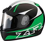 Z1R PHANTOM PEAK Snow Snowmobile Helmet (Green)