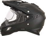 AFX FX41DS Dual Sport/Adventure Snow Helmet w/ Dual Pane Shield (Flat Black)