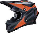 Arctiva Snow Snowmobile RISE SUMMIT Cold-Weather Helmet (Black/Orange)