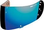 ICON Replacement Optics Shield/Visor for Airmada Helmet (Blue Mirror)