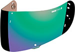ICON Replacement Optics Shield/Visor for Airmada Helmet (Green Mirror)