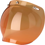 Z1R Universal 3-snap Bubble Shield for Open-Face Motorcycle Helmets