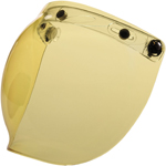 Z1R Universal Flip-Up 3-snap Bubble Shield for Open-Face Motorcycle Helmets