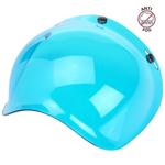 Biltwell Inc 3-Snap Anti-Fog UV Bubble Shield/Visor for Motorcycle Helmets (Blue)