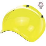 Biltwell Inc 3-Snap Anti-Fog UV Bubble Shield/Visor for Motorcycle Helmets (Yellow)