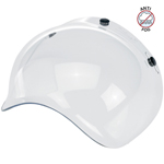 Biltwell Inc 3-Snap Anti-Fog UV Bubble Shield/Visor for Motorcycle Helmets (Clear)