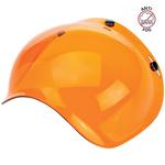 Biltwell Inc 3-Snap Anti-Fog UV Bubble Shield/Visor for Motorcycle Helmets (Orange)
