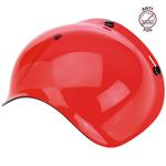 Biltwell Inc 3-Snap Anti-Fog UV Bubble Shield/Visor for Motorcycle Helmets (Red)