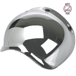 Biltwell Inc 3-Snap Anti-Fog UV Bubble Shield/Visor for Motorcycle Helmets (Chrome Mirror)