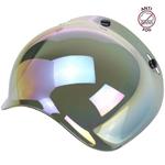Biltwell Inc 3-Snap Anti-Fog UV Bubble Shield/Visor for Motorcycle Helmets (Rainbow Mirror)
