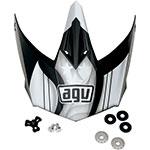 AGV Replacement Visor/Peak for AX-8 Evo Helmet (Black/Gunmetal)