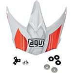 AGV Replacement Visor/Peak for AX-8 Evo Helmet (White/Red)