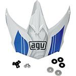 AGV Replacement Visor/Peak for AX-8 Evo Helmet (White/Blue)