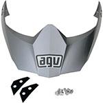 AGV Replacement Visor/Peak for AX-8 DS Evo Helmet (Titanium Gray)