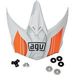 AGV Replacement Visor/Peak for AX-8 Evo Helmet (White/Orange)