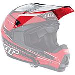 THOR MX Motocross Replacement Visor Kit for Quadrant Stripe Youth Helmet (Red)