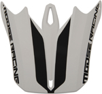 Moose Racing MX Off-Road Replacement Visor Kit for F.I. Session Helmet (White/Black)