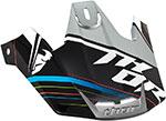 THOR MX Motocross 2015 Replacement Visor Kit for Verge Helmet (STACK Black/Silver)