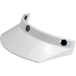 BILTWELL INC 3-Snap Helmet Moto Visor (White)