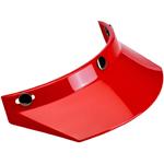 Biltwell Inc 3-Snap Helmet Moto Visor (Red)