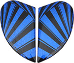 ICON Replacement Sideplates for Airmada Spaztky Helmet (Blue)