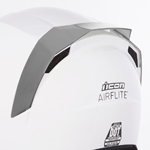 Icon Motosports Rear Spoiler for Airflite Helmets (RST Mirror Silver/Chrome)