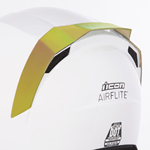 Icon Motosports Rear Spoiler for Airflite Helmets (RST Mirror Gold)