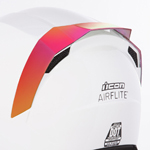 Icon Motosports Rear Spoiler for Airflite Helmets (RST Mirror Red)
