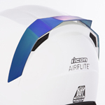 Icon Motosports Rear Spoiler for Airflite Helmets (RST Mirror Blue)