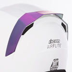 Icon Motosports Rear Spoiler for Airflite Helmets (RST Mirror Purple)