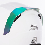 Icon Motosports Rear Spoiler for Airflite Helmets (RST Mirror Green)