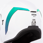 Icon Motosports Rear Spoiler for Airform Helmets (RST Mirror Green)